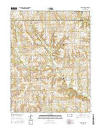 Ottawa NW Kansas Current topographic map, 1:24000 scale, 7.5 X 7.5 Minute, Year 2015 from Kansas Map Store