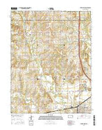 Ottawa North Kansas Current topographic map, 1:24000 scale, 7.5 X 7.5 Minute, Year 2015 from Kansas Map Store