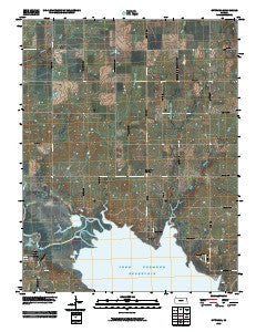 Ottumwa Kansas Historical topographic map, 1:24000 scale, 7.5 X 7.5 Minute, Year 2009