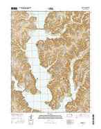 Ozawkie Kansas Current topographic map, 1:24000 scale, 7.5 X 7.5 Minute, Year 2015 from Kansas Map Store