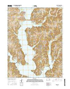 Ozawkie Kansas Current topographic map, 1:24000 scale, 7.5 X 7.5 Minute, Year 2015