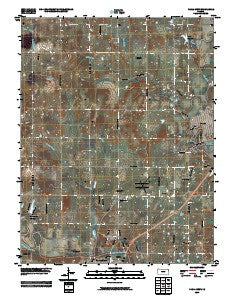 Paola West Kansas Historical topographic map, 1:24000 scale, 7.5 X 7.5 Minute, Year 2009