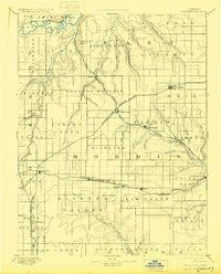 Parkerville Kansas Historical topographic map, 1:125000 scale, 30 X 30 Minute, Year 1894
