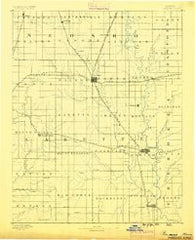 Parsons Kansas Historical topographic map, 1:125000 scale, 30 X 30 Minute, Year 1886