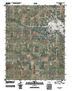 Parsons West Kansas Historical topographic map, 1:24000 scale, 7.5 X 7.5 Minute, Year 2009