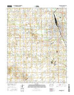 Parsons West Kansas Current topographic map, 1:24000 scale, 7.5 X 7.5 Minute, Year 2015 from Kansas Map Store