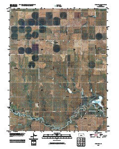 Penalosa Kansas Historical topographic map, 1:24000 scale, 7.5 X 7.5 Minute, Year 2009