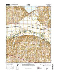 Perry Kansas Current topographic map, 1:24000 scale, 7.5 X 7.5 Minute, Year 2016