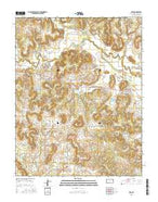 Peru Kansas Current topographic map, 1:24000 scale, 7.5 X 7.5 Minute, Year 2015 from Kansas Map Store