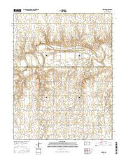 Pfeifer Kansas Current topographic map, 1:24000 scale, 7.5 X 7.5 Minute, Year 2015 from Kansas Maps Store