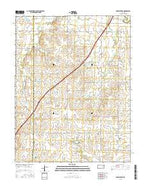 Phenis Creek Kansas Current topographic map, 1:24000 scale, 7.5 X 7.5 Minute, Year 2015 from Kansas Map Store