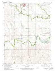 Phillipsburg South Kansas Historical topographic map, 1:24000 scale, 7.5 X 7.5 Minute, Year 1972