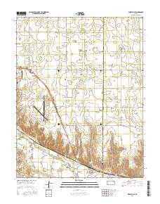 Pierceville Kansas Current topographic map, 1:24000 scale, 7.5 X 7.5 Minute, Year 2016