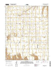Pierceville NE Kansas Current topographic map, 1:24000 scale, 7.5 X 7.5 Minute, Year 2016