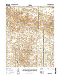 Pierceville SW Kansas Current topographic map, 1:24000 scale, 7.5 X 7.5 Minute, Year 2016