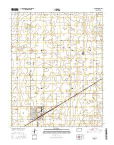 Plains Kansas Current topographic map, 1:24000 scale, 7.5 X 7.5 Minute, Year 2016