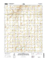 Plains NE Kansas Current topographic map, 1:24000 scale, 7.5 X 7.5 Minute, Year 2016