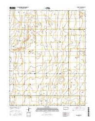 Plains NW Kansas Current topographic map, 1:24000 scale, 7.5 X 7.5 Minute, Year 2016