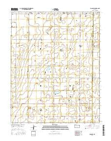 Plains SW Kansas Current topographic map, 1:24000 scale, 7.5 X 7.5 Minute, Year 2016