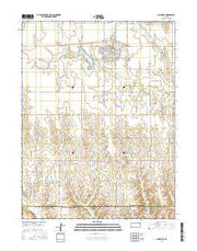 Plainville Kansas Current topographic map, 1:24000 scale, 7.5 X 7.5 Minute, Year 2016 from Kansas Maps Store