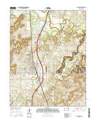 Pleasanton Kansas Current topographic map, 1:24000 scale, 7.5 X 7.5 Minute, Year 2016