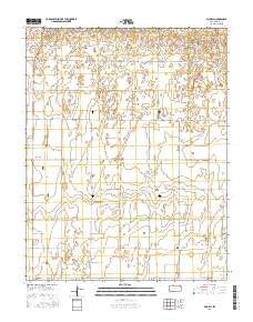 Plymell Kansas Current topographic map, 1:24000 scale, 7.5 X 7.5 Minute, Year 2016