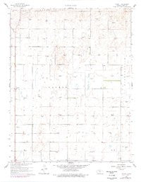 Plymell Kansas Historical topographic map, 1:24000 scale, 7.5 X 7.5 Minute, Year 1960