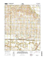 Plymouth Kansas Current topographic map, 1:24000 scale, 7.5 X 7.5 Minute, Year 2015 from Kansas Map Store
