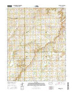 Porterville Kansas Current topographic map, 1:24000 scale, 7.5 X 7.5 Minute, Year 2015 from Kansas Map Store