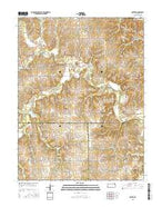 Potter Kansas Current topographic map, 1:24000 scale, 7.5 X 7.5 Minute, Year 2015 from Kansas Map Store