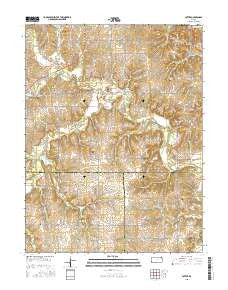 Potter Kansas Current topographic map, 1:24000 scale, 7.5 X 7.5 Minute, Year 2015