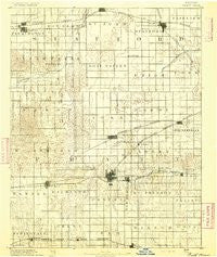 Pratt Kansas Historical topographic map, 1:125000 scale, 30 X 30 Minute, Year 1892
