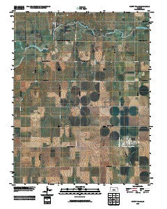 Pretty Prairie Kansas Historical topographic map, 1:24000 scale, 7.5 X 7.5 Minute, Year 2009