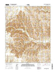 Proffitt Lake NW Kansas Current topographic map, 1:24000 scale, 7.5 X 7.5 Minute, Year 2016