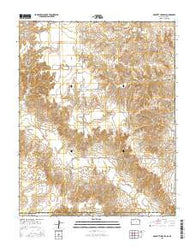 Proffitt Lake SW Kansas Current topographic map, 1:24000 scale, 7.5 X 7.5 Minute, Year 2016
