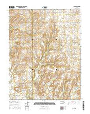 Quincy Kansas Current topographic map, 1:24000 scale, 7.5 X 7.5 Minute, Year 2015 from Kansas Maps Store