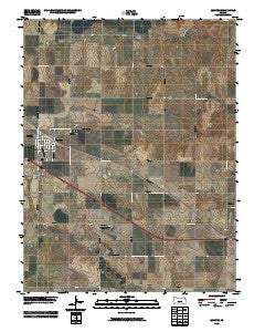 Quinter Kansas Historical topographic map, 1:24000 scale, 7.5 X 7.5 Minute, Year 2009
