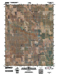 Ransom SE Kansas Historical topographic map, 1:24000 scale, 7.5 X 7.5 Minute, Year 2009