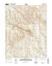 Ransom SE Kansas Current topographic map, 1:24000 scale, 7.5 X 7.5 Minute, Year 2015 from Kansas Maps Store
