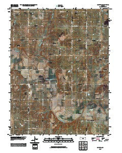 Rantoul Kansas Historical topographic map, 1:24000 scale, 7.5 X 7.5 Minute, Year 2009