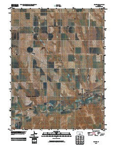 Reager Kansas Historical topographic map, 1:24000 scale, 7.5 X 7.5 Minute, Year 2009