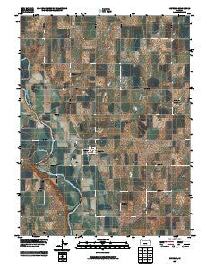 Republic Kansas Historical topographic map, 1:24000 scale, 7.5 X 7.5 Minute, Year 2009