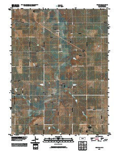 Reserve Kansas Historical topographic map, 1:24000 scale, 7.5 X 7.5 Minute, Year 2009