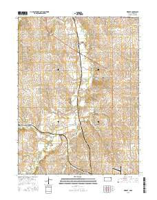 Reserve Kansas Current topographic map, 1:24000 scale, 7.5 X 7.5 Minute, Year 2015