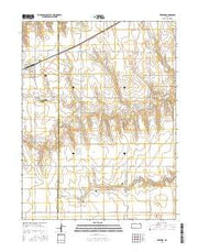 Rexford Kansas Current topographic map, 1:24000 scale, 7.5 X 7.5 Minute, Year 2015 from Kansas Maps Store