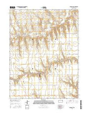 Rexford NE Kansas Current topographic map, 1:24000 scale, 7.5 X 7.5 Minute, Year 2015 from Kansas Maps Store