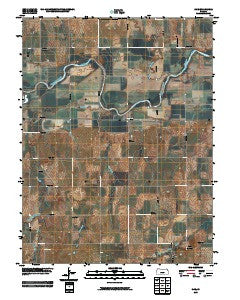 Rice Kansas Historical topographic map, 1:24000 scale, 7.5 X 7.5 Minute, Year 2009