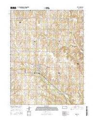 Riley Kansas Current topographic map, 1:24000 scale, 7.5 X 7.5 Minute, Year 2016