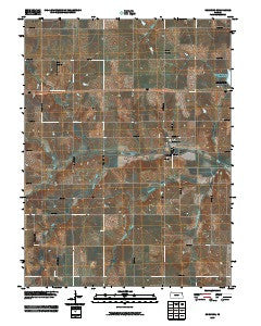 Robinson Kansas Historical topographic map, 1:24000 scale, 7.5 X 7.5 Minute, Year 2009