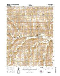 Robinson Kansas Current topographic map, 1:24000 scale, 7.5 X 7.5 Minute, Year 2015